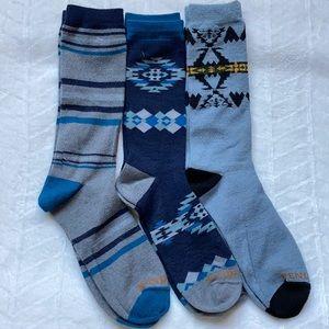 (3)Pendleton Wool Blend Socks .